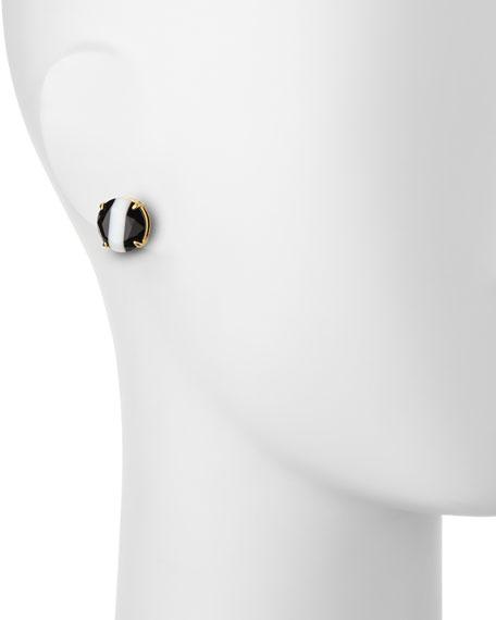 the right stripe stud earrings