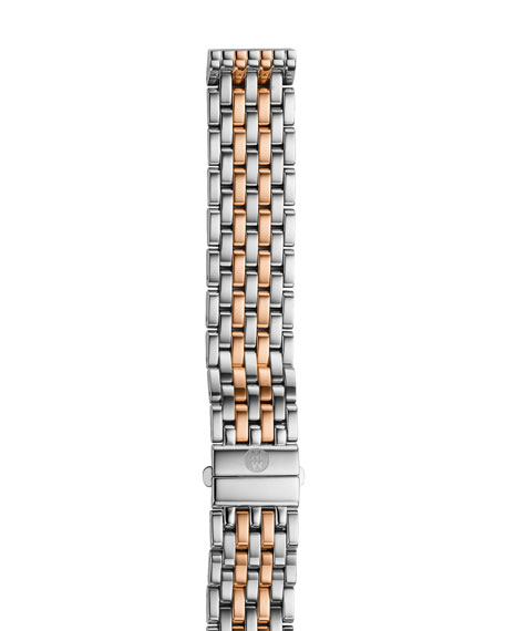 MICHELE 16mm Deco Seven Link Bracelet Strap, Two-Tone