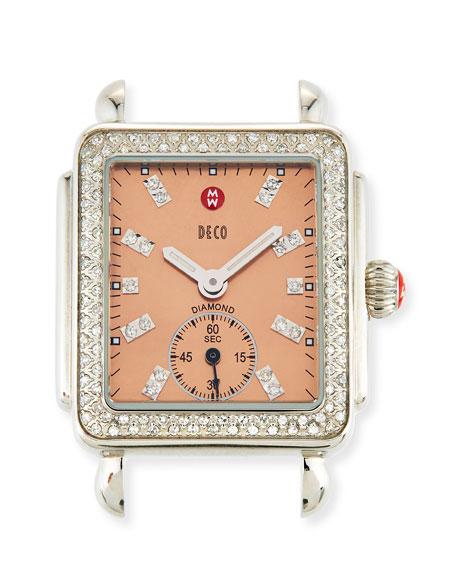 MICHELE 16mm Deco Diamond Mother-of-Pearl Watch Head