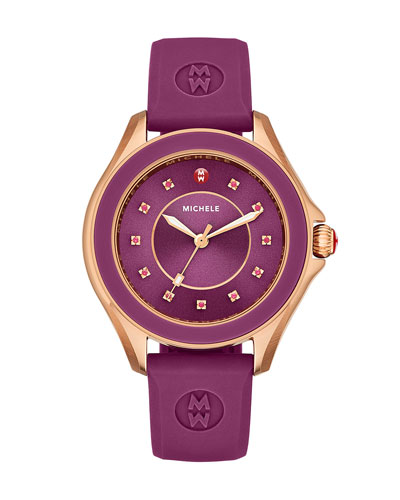 Cape Topaz Watch with Silicone Strap, Berry