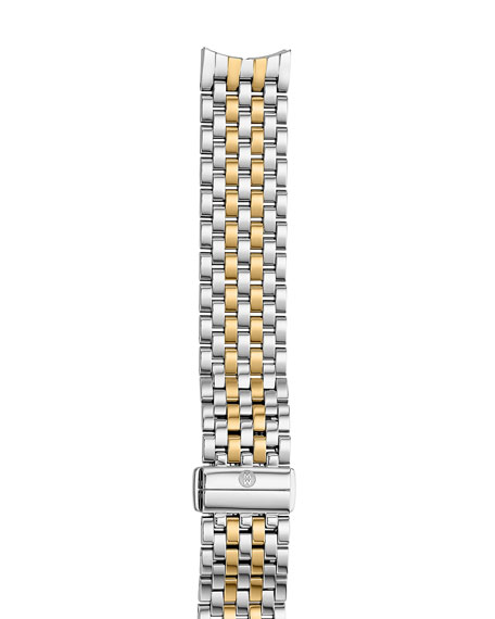 MICHELE 18mm Gracile Two-Tone Bracelet Strap, Gold/Steel