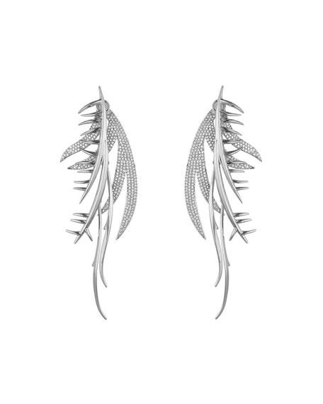 Pavé Crystal Frond Ear Piece