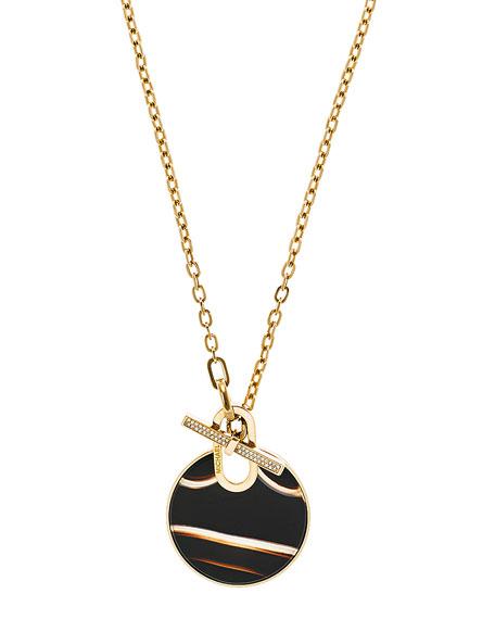 Agate City Disc Pendant Necklace