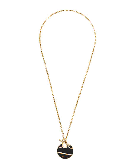 Michael Kors Agate City Disc Pendant Necklace