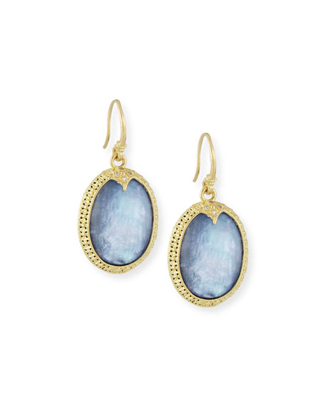 Armenta Old World Oval Triplet Drop Earrings