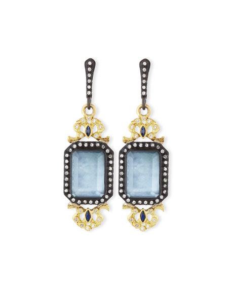 Triplet Filigree Diamond Drop Earrings