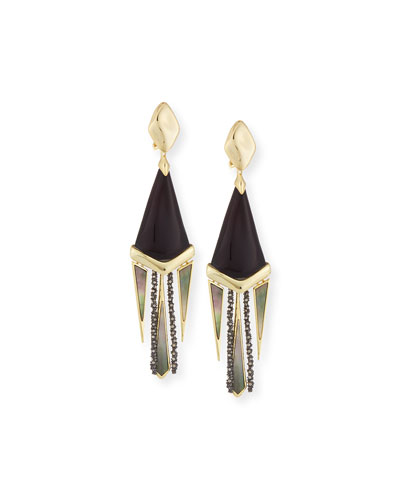 Lucite Chandelier Fringe Earrings
