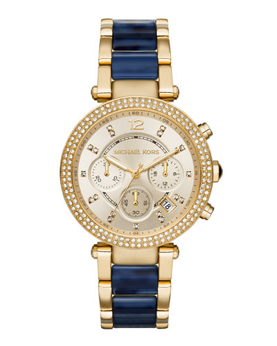 Michael Kors 39mm Parker Glitz Bracelet Watch