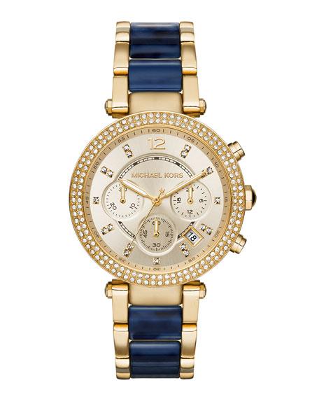 Michael Kors 39mm Parker Glitz Bracelet Watch
