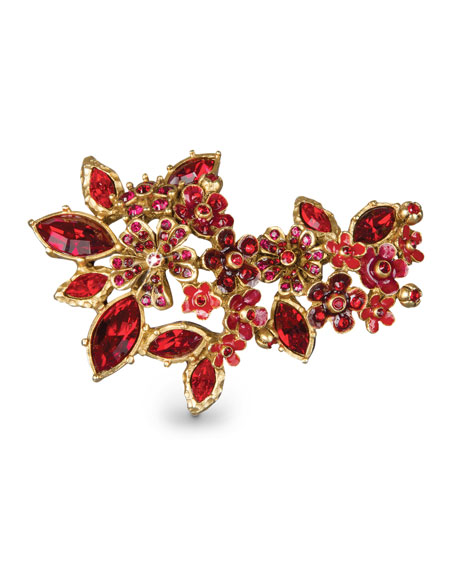 Jay Strongwater Floral Cluster Pin