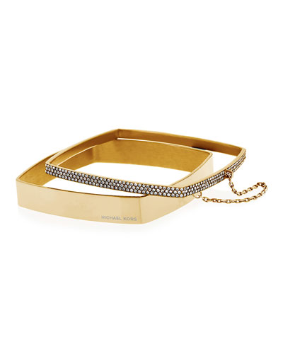 Pave Logo Stacking Bangles