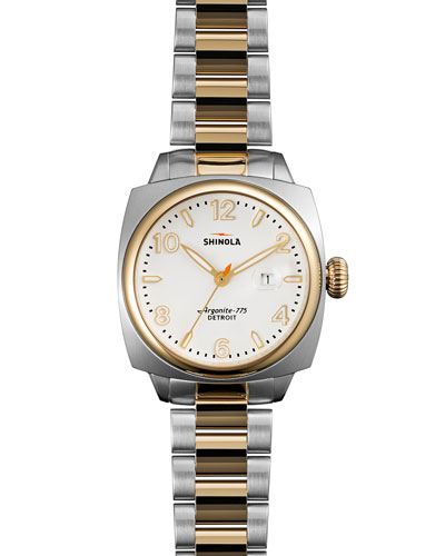 Brakeman Two-Tone Watch with Bracelet Strap, 32mm