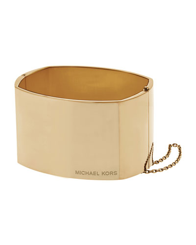 Logo Statement Hinge Cuff