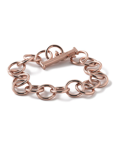 Rose Glamazon Smooth Link Bracelet