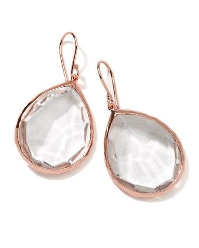 Rose Rock Candy Large Teardrop Quartz Earrings