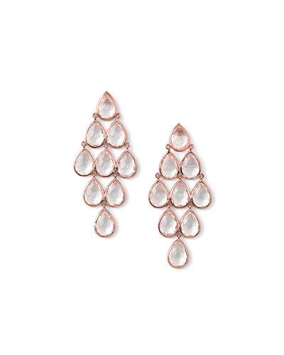 Rock Candy Rose Teardrop Quartz Earrings