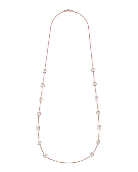 Rose Rock Candy Medium Stone Station Necklace