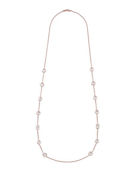 Rose Rock Candy Medium Stone Station Necklace