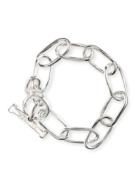 Ippolita Silver Glamazon Elongated Oval Link Toggle Bracelet