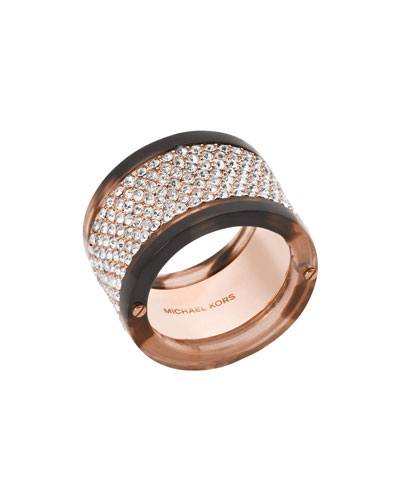 Pave Acetate Band Ring