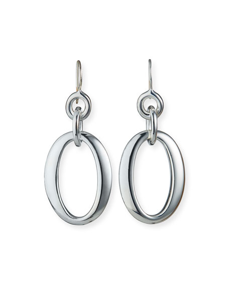 Ippolita Silver Glamazon Short Oval Link Earrings