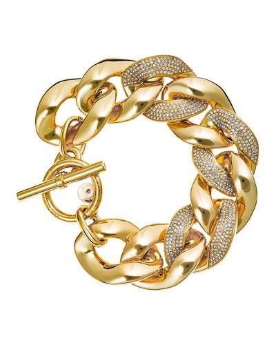 Pave Curb Chain Link Bracelet