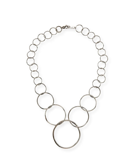 Ippolita Silver Glamazon Graduated Wavy Circle Necklace