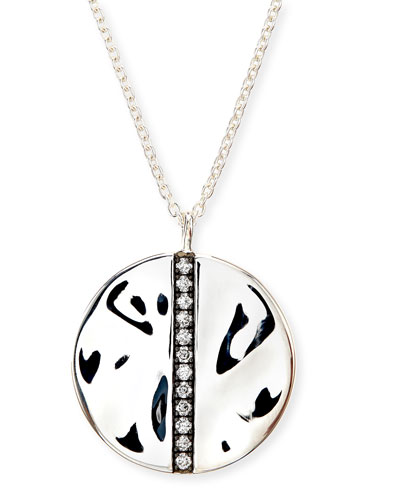 925 Glamazon Stardust Large Diamond Disc Pendant Necklace
