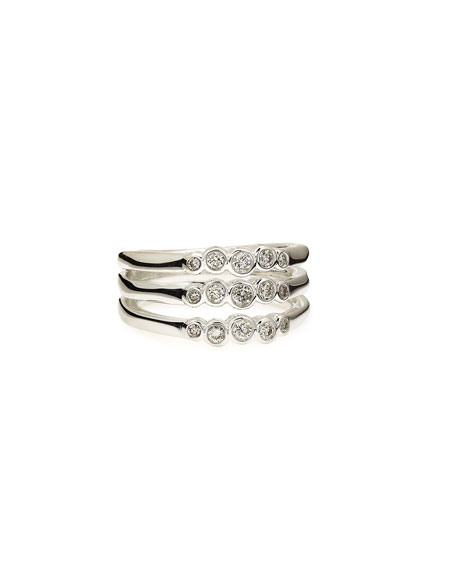 Ippolita Silver Glamazon Stardust Triple Band Ring with
