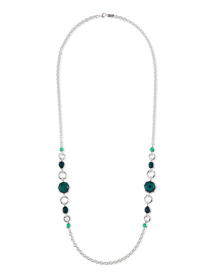 Ippolita 925 Wonderland 2-Station Link Necklace in Neptune, 36