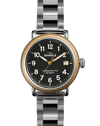 Runwell Coin Edge Watch with Bracelet Strap, 38mm