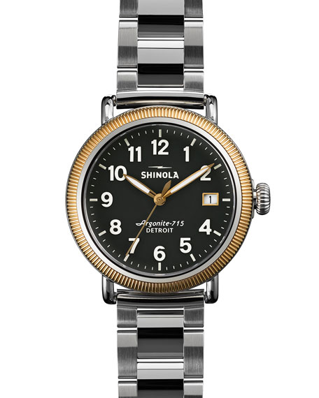 Shinola Runwell Coin Edge Watch with Bracelet Strap, 38mm