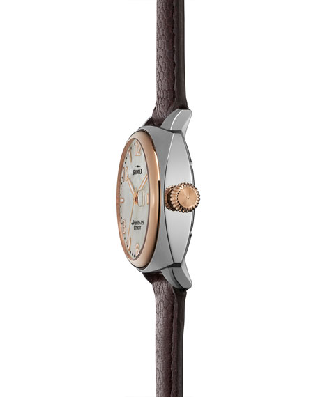 32mm Brakeman Watch with Leather Strap, Oxblood