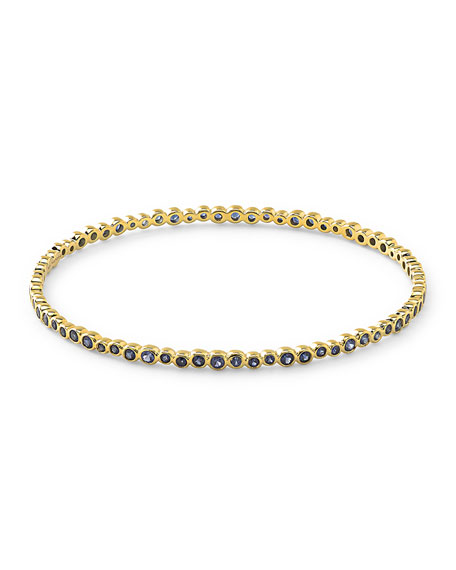 Ippolita 18k Glamazon Stardust Bangle with Blue Sapphires