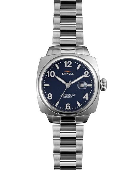 Shinola 32mm Brakeman Watch with Bracelet Strap