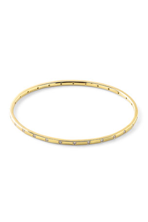 Ippolita 18K Gold Senso? Thin 28-Stone Bangle with Diamonds (.68ctw)