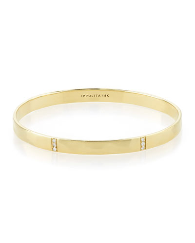 18k Glamazon 3-Section Diamond Bangle