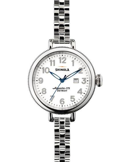 Shinola 34mm Birdy Stainless Steel Watch