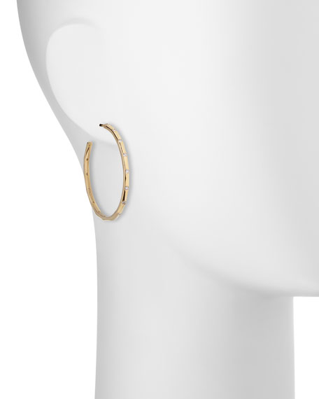 18K Gold Senso™ #3 Hoops with Diamonds
