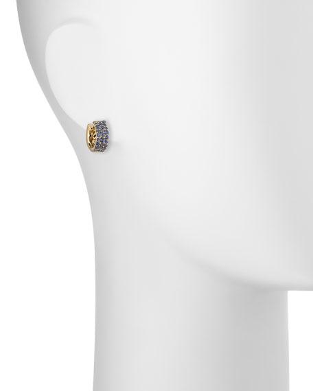 18k Glamazon Stardust Small Sapphire Hoop Earrings