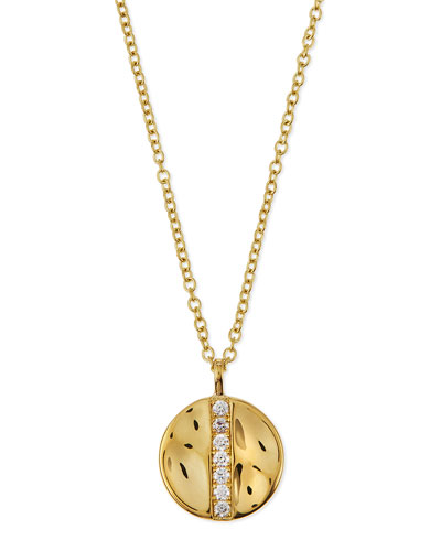18k Glamazon Stardust Medium Disc Pendant Necklace with Diamonds
