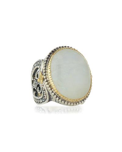 Erato Large Oval Labradorite Ring