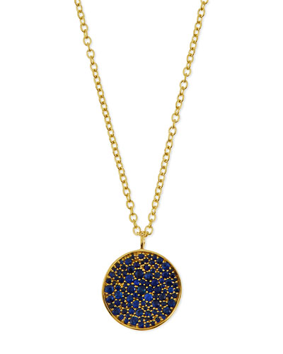 18k Glamazon Stardust Flower Necklace with Blue Sapphires