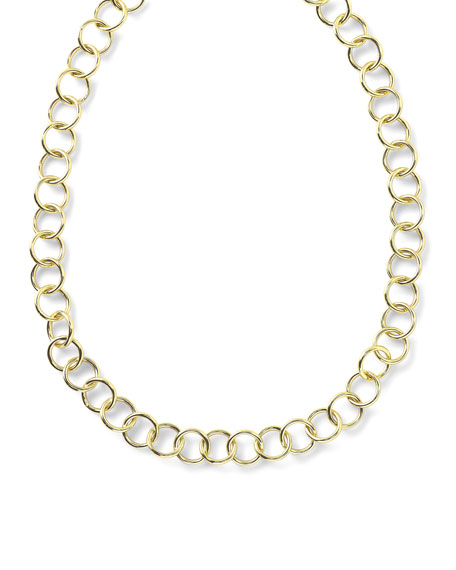 Ippolita 18k Glamazon Round Link Necklace, 17