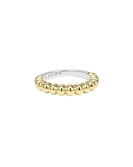 Lagos Fluted Stacking Ring, Size 7