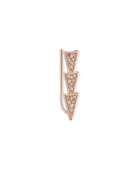 Sydney Evan 14k Rose Gold Triple Diamond Triangle