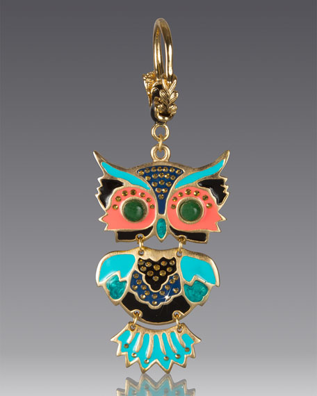 Jay Strongwater Owl Key Chain
