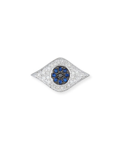 Large Evil Eye Single Stud Earring