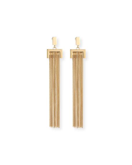 Delfine Rigid Chain Drop Earrings