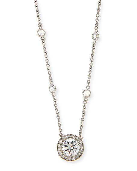 Cubic Zirconia By-the-Yard Pendant Necklace